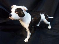 JBCOD4 John Beswick Dogs & Cats - Staffordshire Bull Terrier Piebald Dog