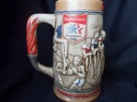 H476 Budweiser Stein Sponsors of the Los Angeles 1984 Olympics
