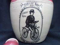 H473 Pedlers Jubliee 1887 Rum Stone Bottle