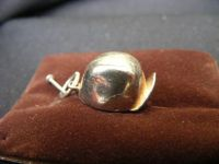 H155 - Sterling Silver Charm in the form of a Cycle Hat (no Hallmark but this is Silver)