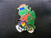 H187 - Hippo on a Bike Brooch