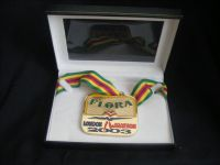 H886 - 2003 Flora London Marathon Gold Winners Medal in presentation box.