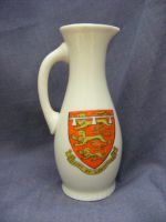 4253 WH Goss Model of The Canterbury Jug - Morecambe & Duchy of Lancaster Crests